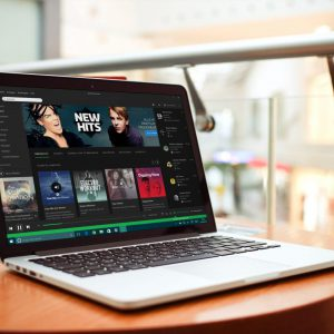 Spotify-on-a-Laptop