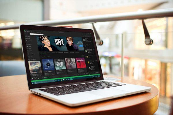 Spotify-on-a-Laptop
